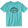 Patagonia Boys Fitz Roy Crest Cotton/Poly T-Shirt Howling Turquoise
